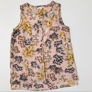 Tops - C&E Pink Floral Sleeveless Top